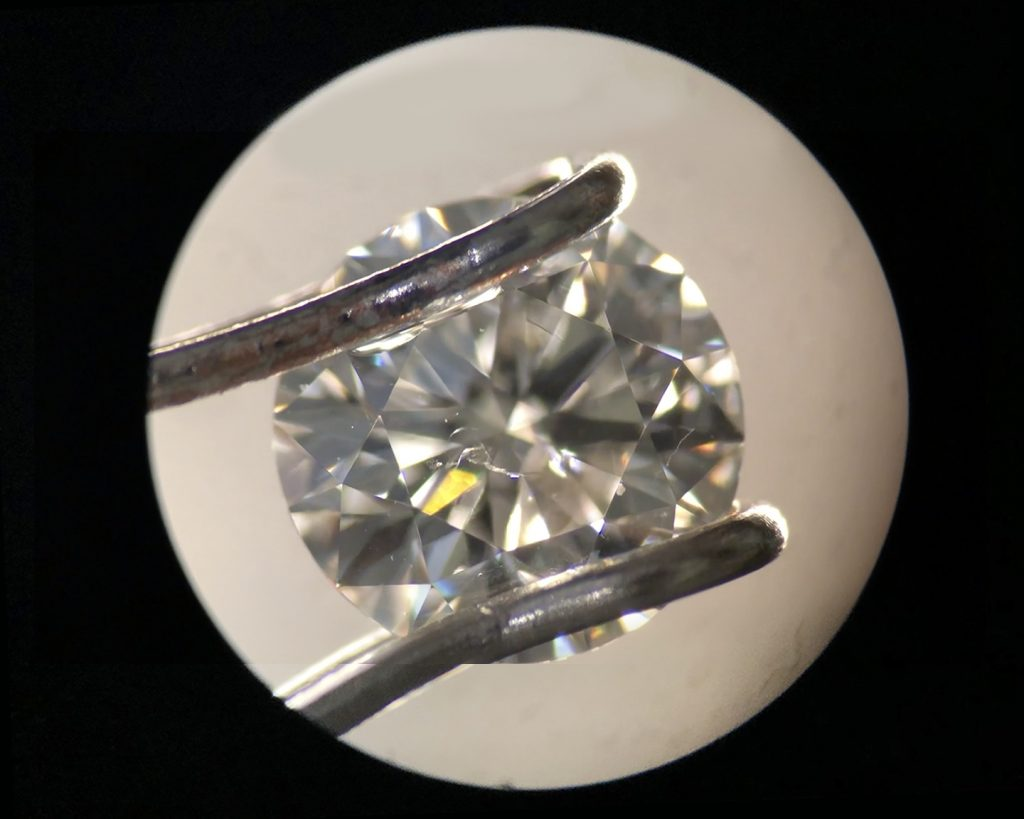 SI2 clarity round diamond