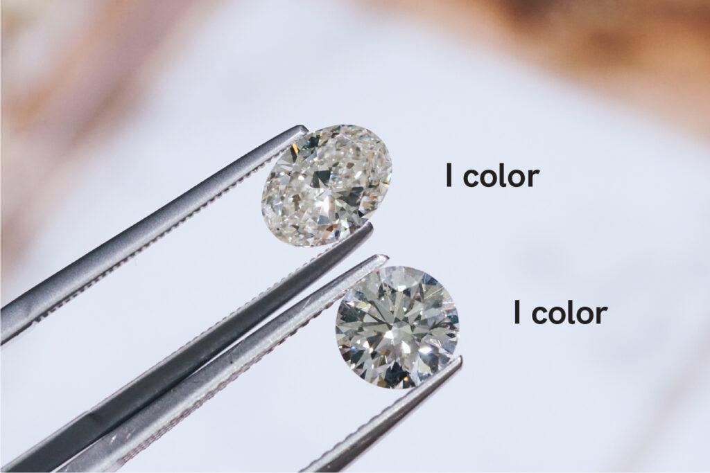oval and round diamond color comparison