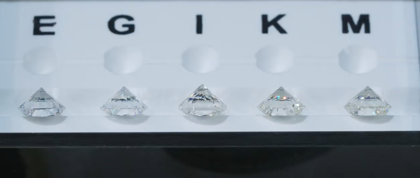 Diamond color comparison upside down