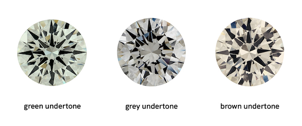 show the different undertone colors with diamonds
