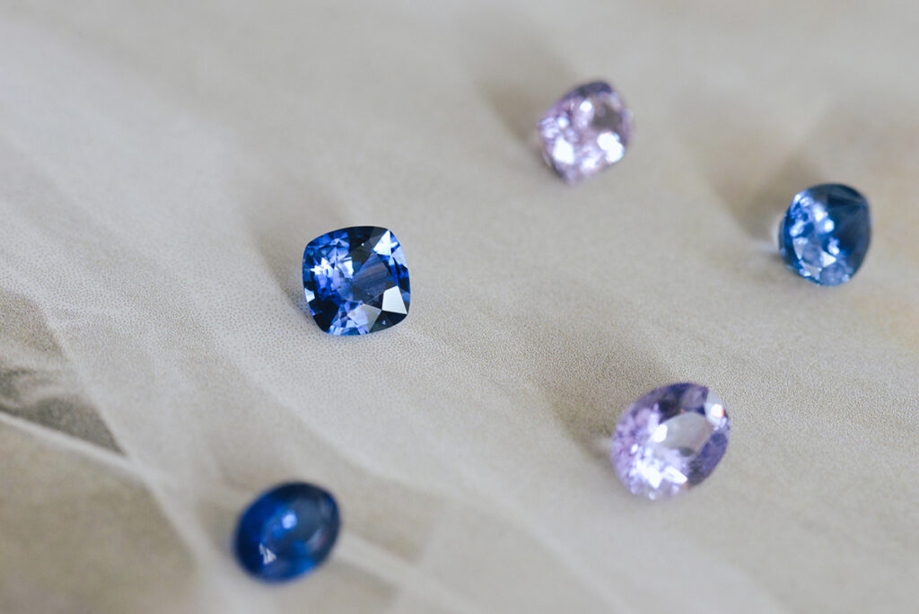 Natural blue sapphires