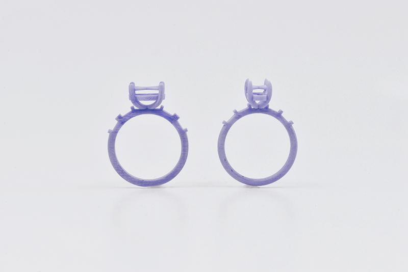 engagement rings resin model